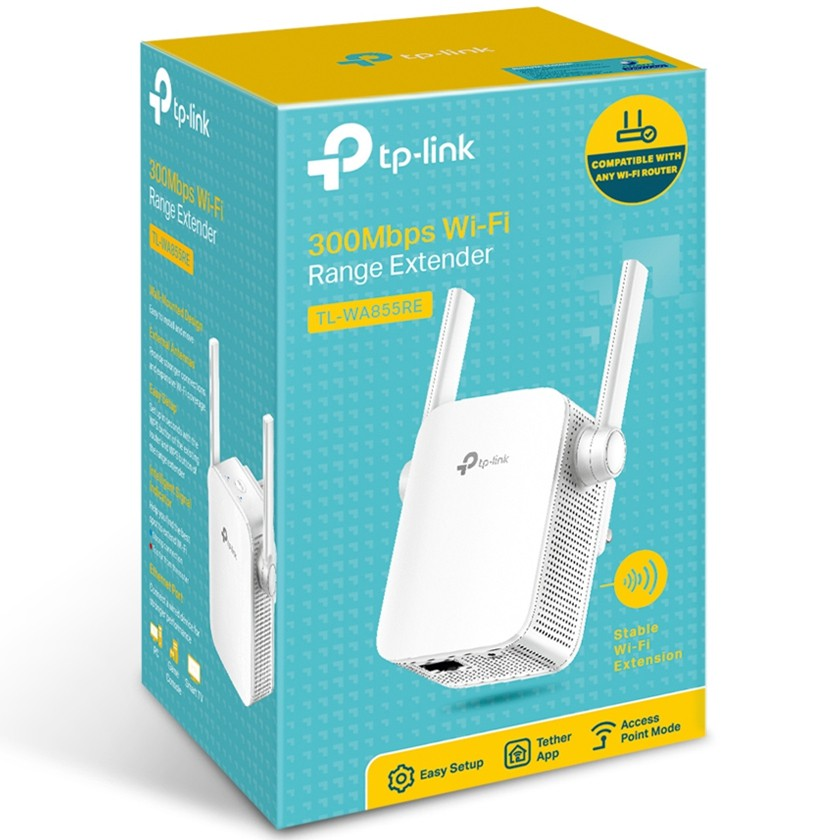 Tp-link Tl-WA855RE - 300mbps Wi-fi Range Extender Works with any Wi-Fi router