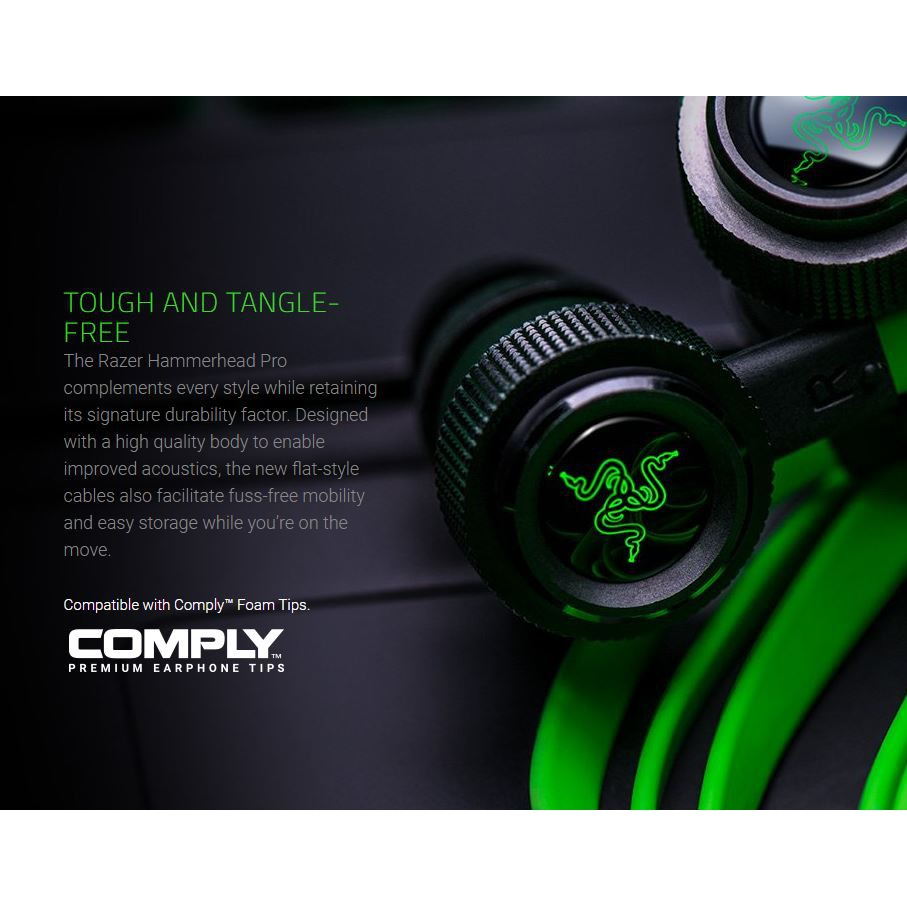 Razer Hammerhead Shark Professional Edition V2 Notebook Computer Mobile Games In-Ear Headphones with Wheat