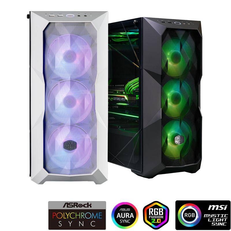 Cooler Master Masterbox TD500 Mesh Argb Black / White Case Type Mini ITX, Micro ATX, ATX, SSI CEB, E-ATX